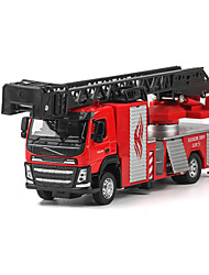 cheap -Toy Cars Model Car Fire Engine Vehicle Toys Simulation Ship Truck Fire Engines Metal Alloy Metal Pieces Children's Boys' Unisex Gift
