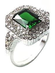 Herrn Ring Synthetischer Smaragd Einzigartiges Design Modisch Euramerican Smaragdfarben Aleación Schmuck Schmuck Für Hochzeit Besondere