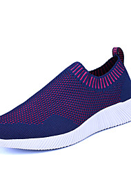 Men's Athletic Shoes Comfort Light Soles PU Summer Fall Athletic Outdoor Track & Field Comfort Light Soles Flat HeelBlue Blushing Pink