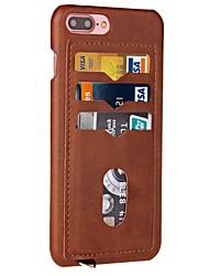 economico -Per iPhone X iPhone 8 Custodie cover Porta-carte di credito Custodia posteriore Custodia Tinta unica Resistente Similpelle per Apple