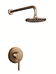 Antique Shower Only Rain Shower with  Ceramic Valve Three Holes for  Antique Brass , Shower Faucet