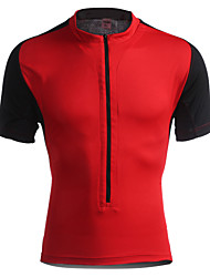 Jaggad Cycling Jersey Men's Women's Unisex Short Sleeves Bike Jersey Tops Quick Dry Breathable Polyester Elastane Patchwork Summer