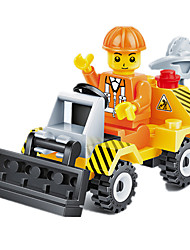 cheap -JIE STAR Toy Cars Building Blocks Construction Vehicle Dozer Square Unisex Gift