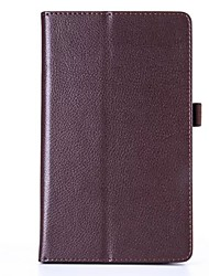cheap -For Case Cover with Stand Flip Full Body Case Solid Color Soft PU Leather for LG G PAD F 8.0
