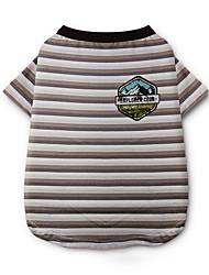 cheap -Dog Shirt / T-Shirt Dog Clothes Stripe Gray / Rainbow Cotton Costume For Pets Summer Men's / Women's Casual / Daily / Fashion