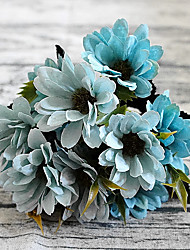 cheap -5 Fork Small Daisy Artificial Bouquet for Home Decor and Wedding Decorations