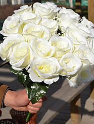 Недорогие -1 ветка пластиковые розы настольный цветок искусственные цветы 9 цветов опционально