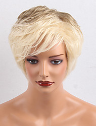 Prevailing  Short  Natural WavyOmbre Color Human Hair Wigs For Woman