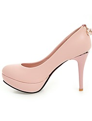 Women's Heels Comfort Light Soles Real Leather Spring Casual Office & Career Dress Comfort Light Soles Chain Stiletto HeelBlushing Pink