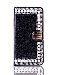 cheap -For iPhone X iPhone 8 Case Cover Wallet Card Holder Rhinestone with Stand Flip Full Body Case Hard for Apple iPhone X iPhone 8 Plus