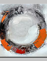 baratos -Pintados à mão Abstrato Quadrada, Abstracto Modern Tela de pintura Pintura a Óleo Decoração para casa 1 Painel