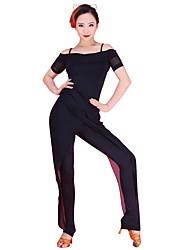 preiswerte -Latin Dance Tops Frauen Leistung Chinlon Tüll eleganten Stil