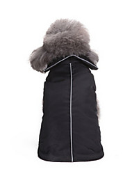 preiswerte -Hund Mäntel Hundekleidung Lässig/Alltäglich Solide Schwarz Orange Blau Kostüm Für Haustiere