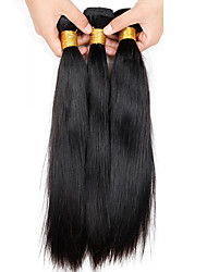 cheap -Brazilian Hair Straight Virgin Human Hair Natural Color Hair Weaves 3 Bundles 8-26 inch Human Hair Weaves Natural Black Human Hair Extensions