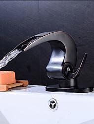 economico -Antico Art déco/Retrò Tradizionale Installazione centrale Valvola in ceramica Una manopola Un foro Lavandino rubinetto del bagno