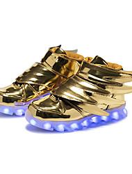 Jungen Sneaker Leuchtende LED-Schuhe Kunststoff Herbst Winter Normal Party & Festivität Leuchtende LED-Schuhe Klett LED Flacher Absatz