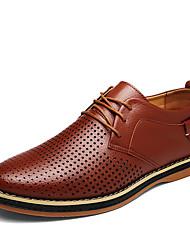 cheap -Men's Shoes PU Spring / Fall Gladiator Oxfords Black / Brown / Blue