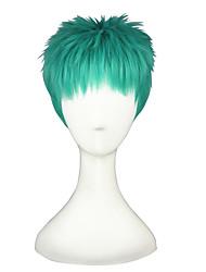 Donna Parrucche sintetiche Senza tappo Pantaloncini Lisci Verde Parrucca Cosplay costumi parrucche
