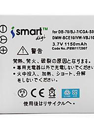 Ismartdigi S008 3.7V 1150mAh Camera Battery for Panasonic FX33 FX30 FX55 FX36 FX520
