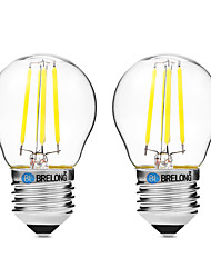 cheap -BRELONG® 2pcs 4W 300 lm E27 LED Filament Bulbs G45 4 leds COB Dimmable Warm White White UV (Blacklight) AC 200-240V