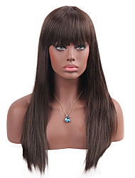 cheap -MAYSU  Natural Bangs  Prevailing  Long Straight Hair  Synthetic Wigs