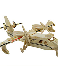 cheap -3D Puzzles Jigsaw Puzzle Wood Model Toys Plane / Aircraft 3D DIY Wood Unisex Pieces