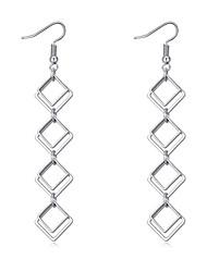 billige -Dame Lang Dråbeøreringe - minimalistisk stil, Mode, Euro-Amerikansk Sølv Til Fest / Fødselsdag