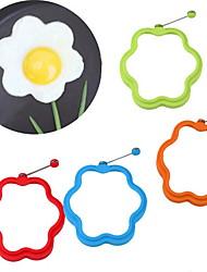 Недорогие -цветок в форме силикона схватка яйцо плесень кольцо завтрак омлет плесень