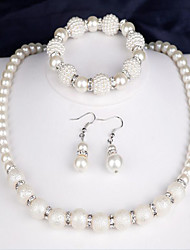 cheap -Women's Jewelry Set - Pearl Fashion Include Bridal Jewelry Sets White For Party / Anniversary / Congratulations