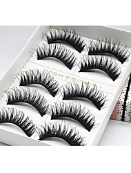 Eyelashes lash Full Strip Lashes Eye Hand-made Fiber Black Band