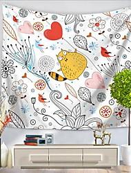 Décoration murale 100 % Polyester simple Actif Dessin Animé Art mural,Tapisseries murales de 1