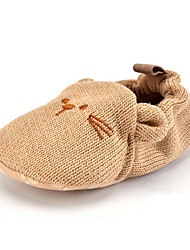Baby Kids' Loafers & Slip-Ons First Walkers Fabric Fall Winter Party & Evening Dress Casual Animal Print Flat Heel Khaki Flat