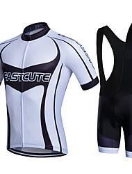 cheap -Fastcute Cycling Jersey with Bib Shorts Men's Bike Bib Shorts Sweatshirt Jersey Jacket Shorts Shirt Top Clothing Suits Polyester Silicon