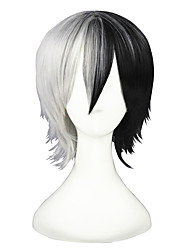 cheap -Synthetic Hair Wigs Straight Capless Carnival Wig Halloween Wig Cosplay Wig Short Black