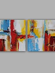 Недорогие -ручная роспись абстрактные / классические две панели холст масляной живописи