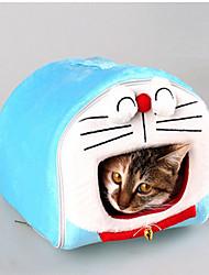 cheap -Cat Dog Bed Pet Mats & Pads Cartoon Waterproof Portable Soft Tent Light Blue