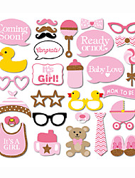 30pcs Baby Shower Party Photo Booth Props Photobooth Party Decoration