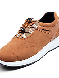 cheap -Men's Athletic Shoes Comfort PU Spring Fall Casual Comfort Flat Heel Black Gray Blue Light Brown Flat