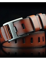 cheap -Men's casual pin buckle belt Youth restores ancient ways wide hole belt Allergy belt personality The cowboy belts
