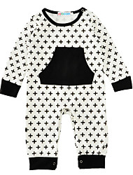 Baby Kids Print One-Pieces,Cotton Blends Winter Spring/Fall Long Sleeve White