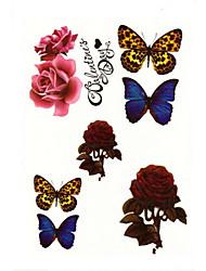 8Pcs/Set Temporary Tattoos Shoulder Animal Series 3D Waterproof Tattoos Stickers Non Toxic Glitter Large Fake Tattoo Body Jewelry Halloween 22*15cm