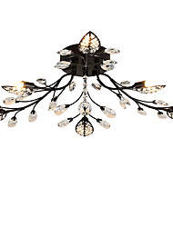 LightMyself 6 Lights Crystal Ceiling Lamp  Indoors Lights for Living Room Bedroom Dining Room