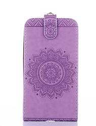 preiswerte -Für Samsung Galaxy Core Prime Ace 4 Case Cover Kartenhalter mit Standfuß geprägt Ganzkörper-Gehäuse Normallack Blume hartes PU-Leder