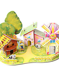 cheap -3D Puzzles Toys House Architecture DIY High Quality Paper Not Specified Unisex Pieces