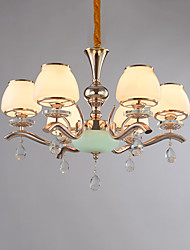 Chandelier  Modern/Contemporary Electroplated Feature for Crystal Metal Living Room Bedroom /Office