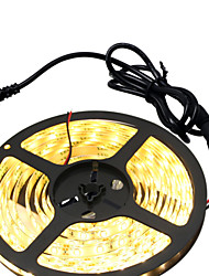 cheap -HKV® 1PCS 5M 300LED Strip Light 5630SMD NO-Waterproof SMD Power Adapter More Brighter Ribbon String Decorative Lamp Tape DC 12V
