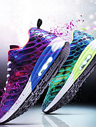 cheap -Unisex Athletic Shoes Light Soles Spring Summer Tulle Running Shoes Athletic Low Heel Purple Fuchsia Green Under 1in