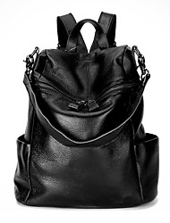 cheap -Women's Bags Cowhide Backpack for Casual Sports Formal Traveling All Seasons Black