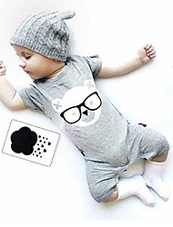 cheap -Baby Kids Solid Color Fashion One-Pieces,100% Cotton Summer Cartoon Sleeveless Black Gray Yellow