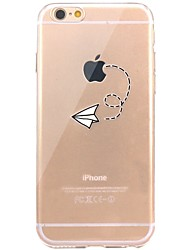 billige -Til iPhone X iPhone 8 Etuier Transparent Mønster Bagcover Etui Leger med Apple-logo Blødt TPU for Apple iPhone X iPhone 8 Plus iPhone 8